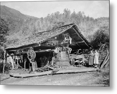 Tennessee Corn Crib, 1936 Metal Print