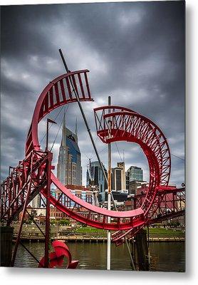 Tennessee - Nashville Through Sculpture Metal Print