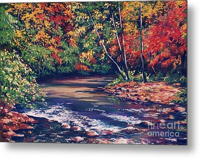 Tennessee Stream In The Fall Metal Print