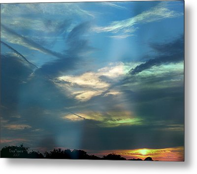 Tennessee Sunset Metal Print by EricaMaxine  Price