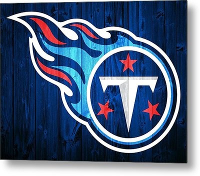 Tennessee Titans Barn Door Metal Print by Dan Sproul