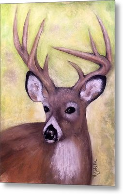 Tennessee Wild Life - Buck Metal Print by Annamarie Sidella-Felts