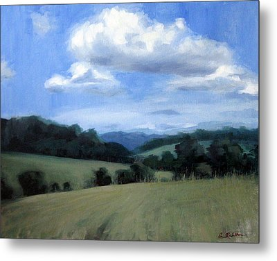Tennessee's Rolling Hills And Clouds Metal Print by Erin Rickelton