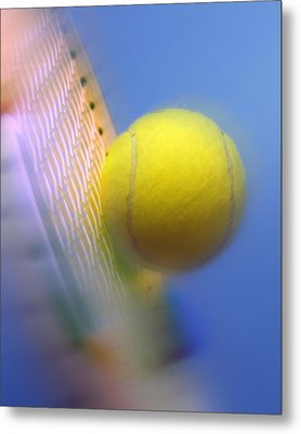 Tennis Ball And Racquet Metal Print