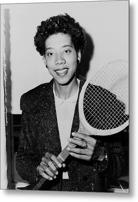 Tennis Great Althea Gibson 1956 Metal Print by Mountain Dreams