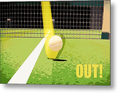 Tennis Hawkeye Out Metal Print