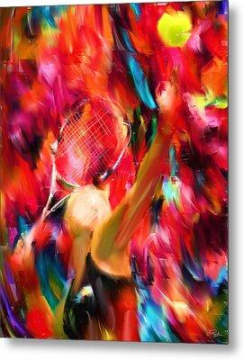 Tennis I Metal Print by Lourry Legarde