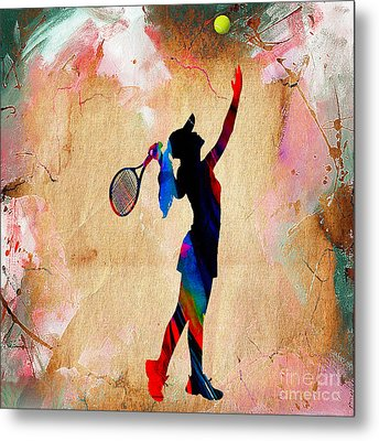 Tennis Match Metal Print by Marvin Blaine
