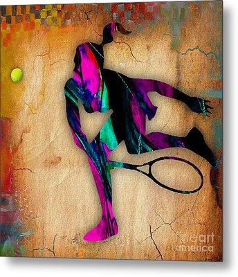 Tennis Painting Metal Print by Marvin Blaine