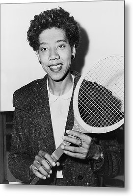 Tennis Star Althea Gibson Metal Print by Fred Palumbo