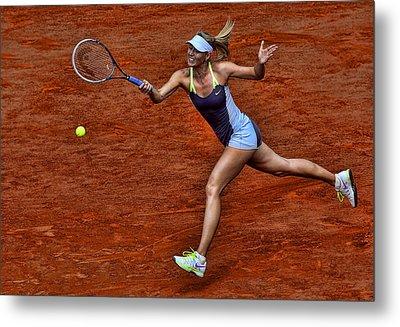 Tennis Star Maria Sharapova Metal Print by Srdjan Petrovic