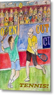 Tennis Strokes Metal Print by Monica Engeler