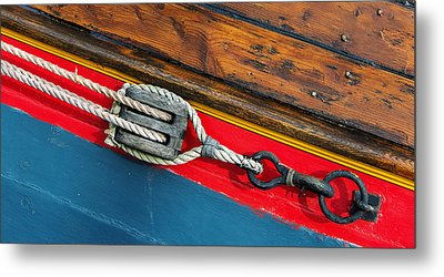 Tension On The Sailing Vessel Metal Print
