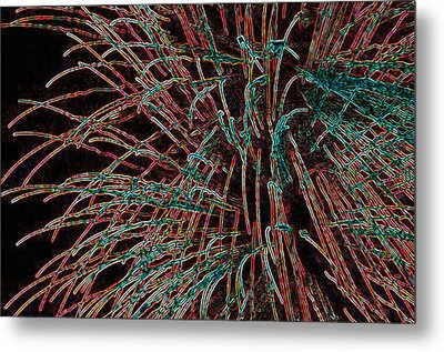 Tentacles Of Light Metal Print by Anthony Dalton