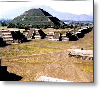 Teotihuacan - Pyramid Of The Sun Metal Print
