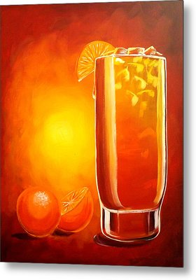 Metal Print featuring the painting Tequila Sunrise by Darren Robinson
