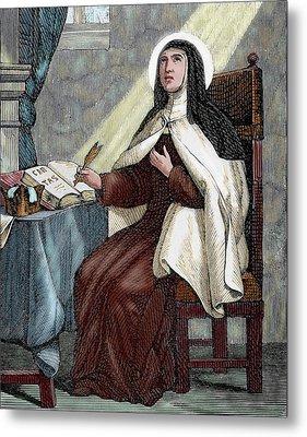 Teresa Of Avila (1515-1582 Metal Print by Prisma Archivo