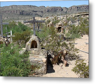 Metal Print featuring the photograph Terlingua by Linda Cox