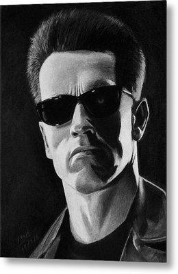 Terminator Metal Print by Vishvesh Tadsare