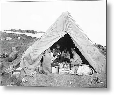 Terra Nova Camp In Antarctica Metal Print by Scott Polar Research Institute