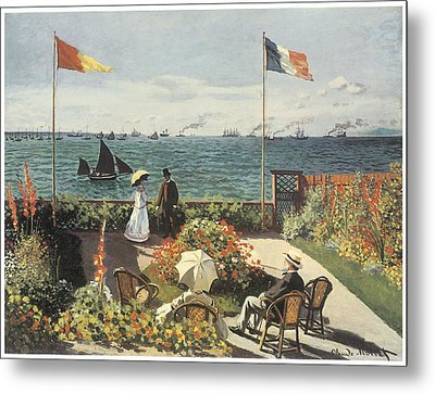Terrace At Sainte-andresse Metal Print by Claude Monet