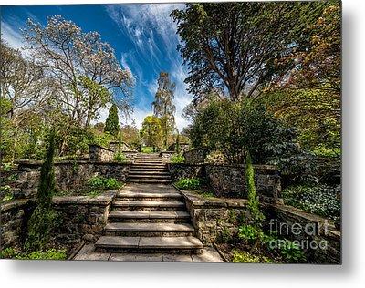 Terrace Garden Metal Print by Adrian Evans