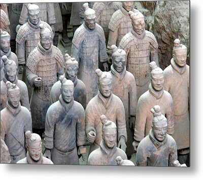 Metal Print featuring the photograph Terracotta Warriors by Kay Gilley