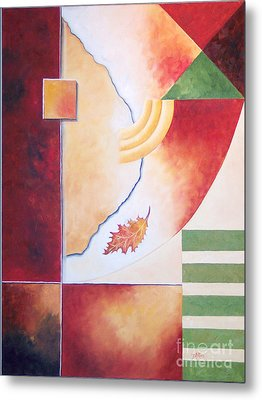 Metal Print featuring the painting Terraform 2- Taos Series by Arthaven Studios