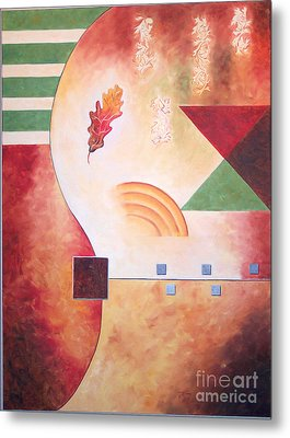 Metal Print featuring the painting Terraform I- Taos Series by Arthaven Studios