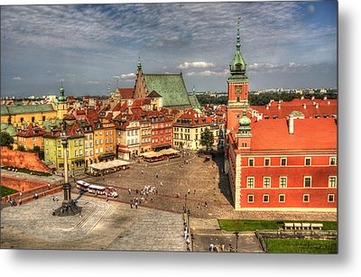 Terrific Warsaw - The Castle And Old Town View Metal Print