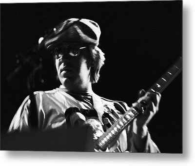 Terry Kath At The Cow Palace In 1976 Metal Print by Ben Upham
