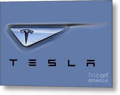 Tesla Model S Metal Print