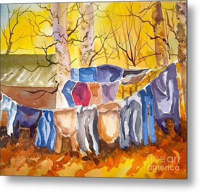 Tess Anne's Laundry Metal Print by Pat Crowther