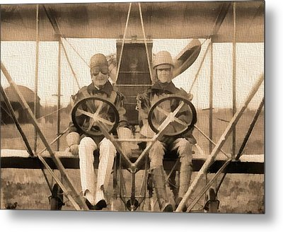 Test Of A Curtiss Plane 1912 Metal Print by Dan Sproul