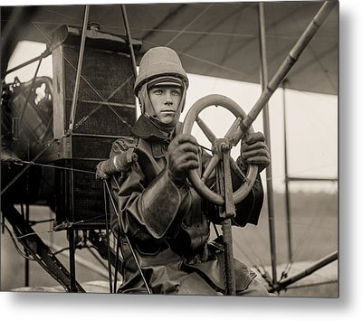 Test Of A Curtiss Plane Circa 1912 Metal Print by Aged Pixel