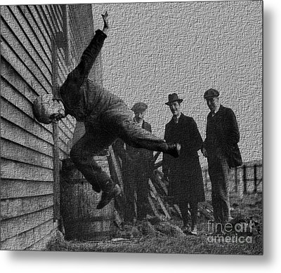 Testing Football Helmets In 1912 Ouchhhhh Metal Print