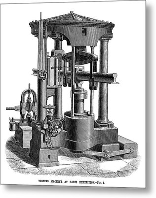 Testing Machine, 1878 Metal Print