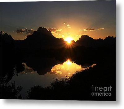 Metal Print featuring the photograph Teton Double Star by Clare VanderVeen