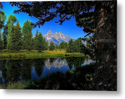 Metal Print featuring the photograph Teton Reflection by Yeates Photography