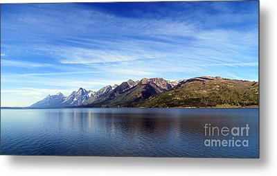 Tetons By The Lake Metal Print by Ausra Huntington nee Paulauskaite