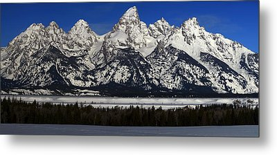 Tetons From Glacier View Overlook Metal Print