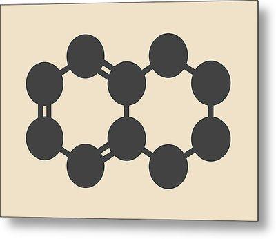 Tetralin Solvent Molecule Metal Print by Molekuul