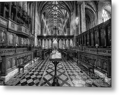Tewkesbury Abbey Bw Metal Print by Jack Torcello