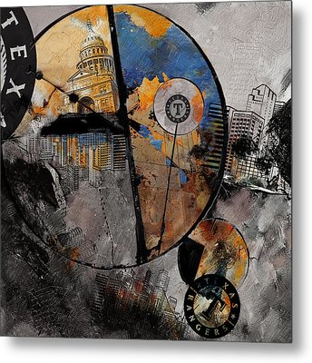 Texas - B Metal Print by Corporate Art Task Force
