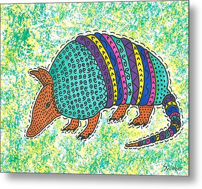 Texas Armadillo Metal Print