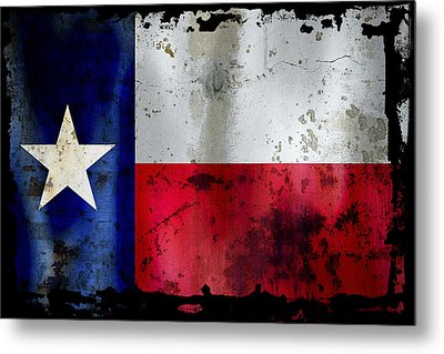 Texas Battle Flag Metal Print