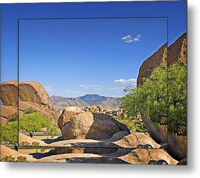Texas Canyon 2 Metal Print by Walter Herrit