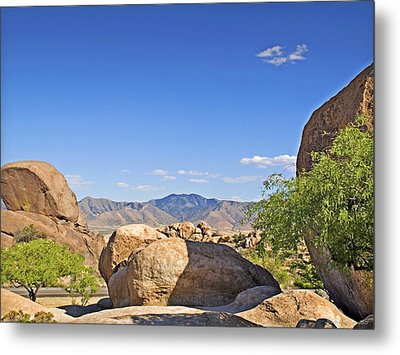 Texas Canyon Metal Print by Walter Herrit