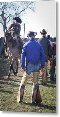 Texas Cowboy Metal Print by Diane Bohna