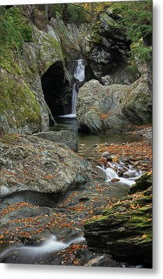 Texas Falls In Beautiful Vermont Metal Print by Juergen Roth